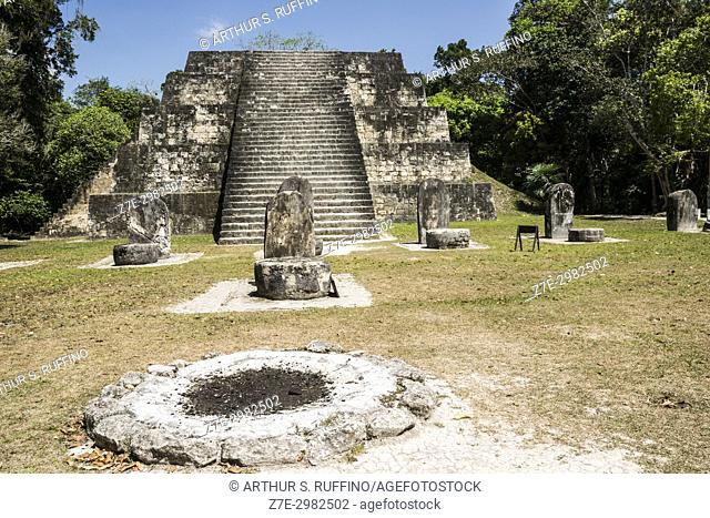 Twin pyramid complex, Tikal, Guatemala, Central America