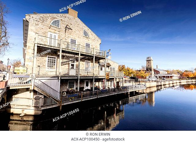 Old buildings on the Tay in downtown Perth, Ontario, Canada
