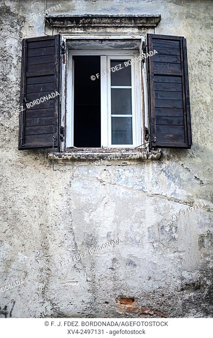 Window detail in Lubliana city, Slovenia