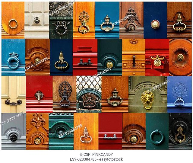 Knobs and handles collage
