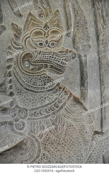 Angkor (Cambodia): bas-relief at the Angkor Wat
