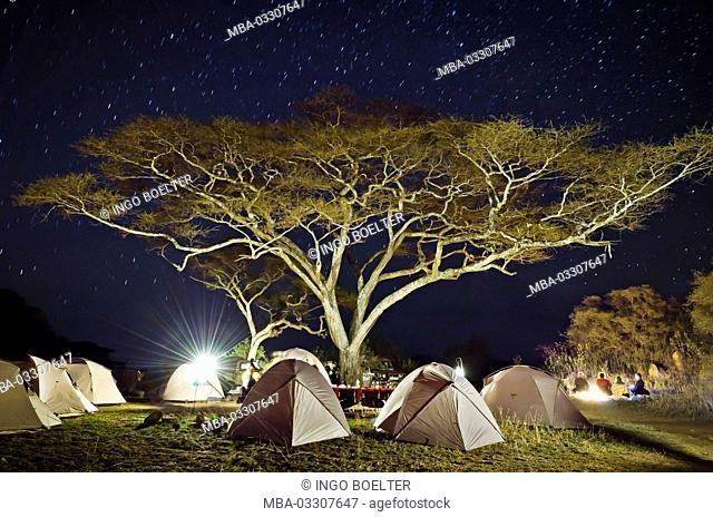 Africa, Tanzania, East Africa, Serengeti, tent camp, camp site