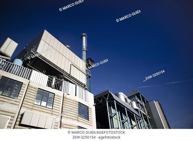 Industrial structure to burn waste of urban production