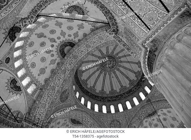 Dome of the Blue Mosque from inside