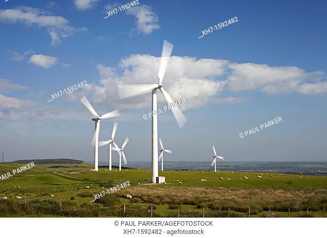 Wind turbine, South Wales, UK