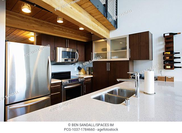 Efficiency Apartment Kitchen