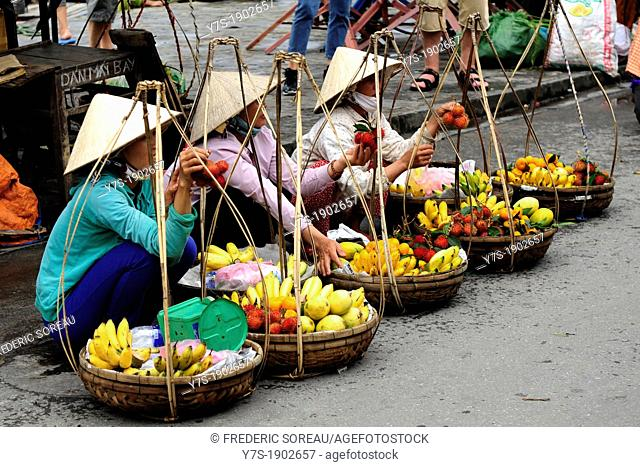 Market in Hoi An,Central Vietnam,South East Asia,Asia