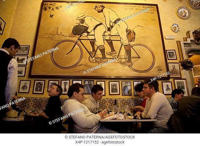Restaurant, Bistro and cafe Els Quatre Gats, Barcelona, Spain