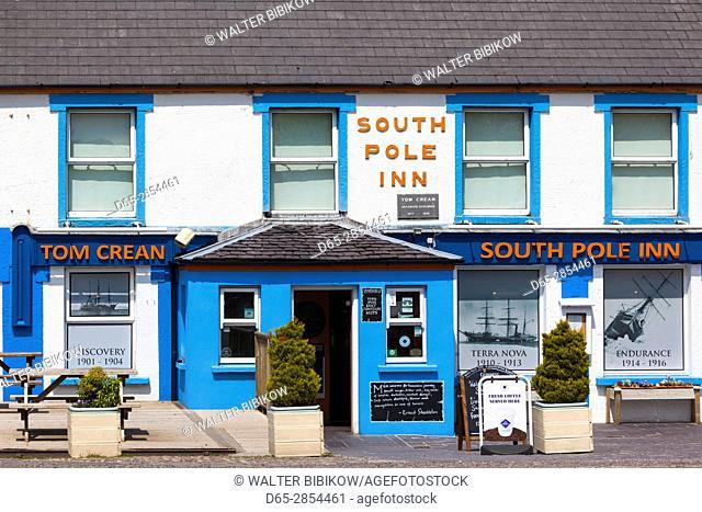 Ireland, County Kerry, Dingle Peninsula, Annascaul, South Pole Inn, former pub owned by Arctic Explorer Tom Crean