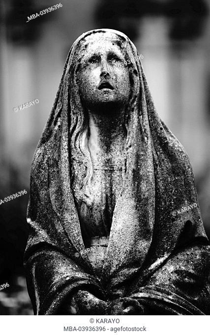 grave yard, grave, statue, female, s/w