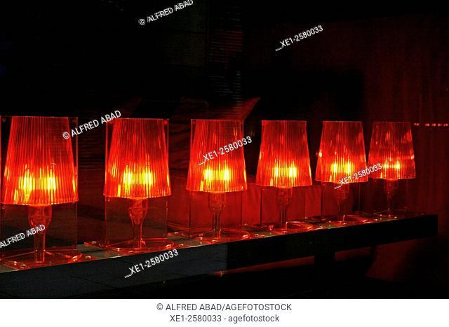 Lamps in showcase