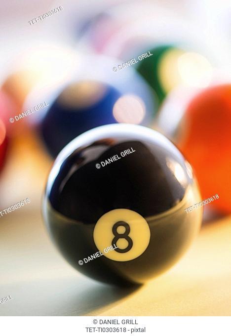 Studio Shot of billiard ball