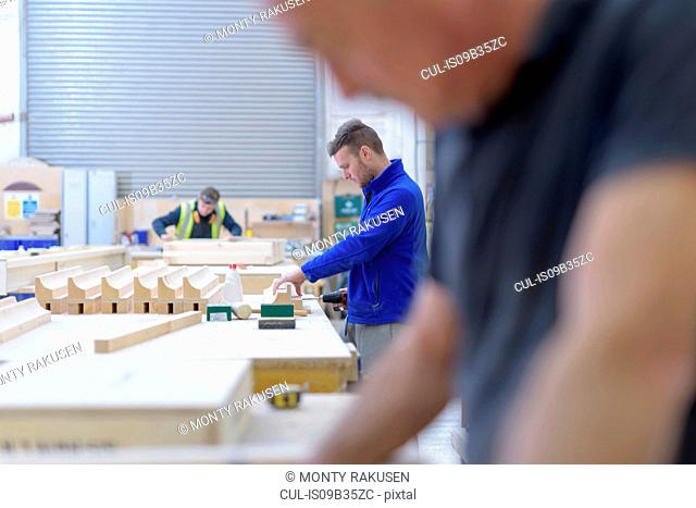 Woodworking in architectural stone factory
