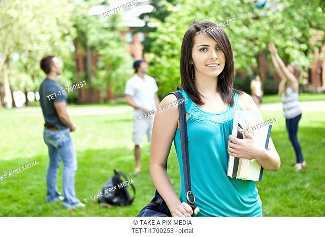 Portrait of female student on campus