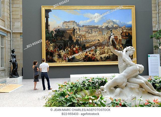 'Le martyre de sainte Agnès dans le forum romain en l'année 303 sous Dioclétien' by Joseph-Désiré Court, Musée des Beaux Arts art museum, Rouen, Seine Maritime
