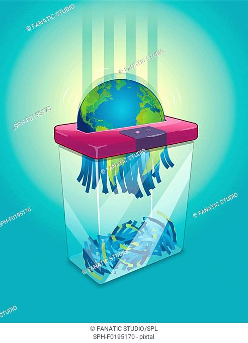 Illustration of environment degradation