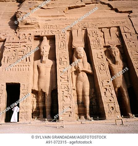Nefertari Temple (Ramses II wife) in Abu Simbel. Egypt