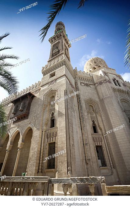 Mosque of Abu Abbas al-Mursi. Alexandria, Egypt