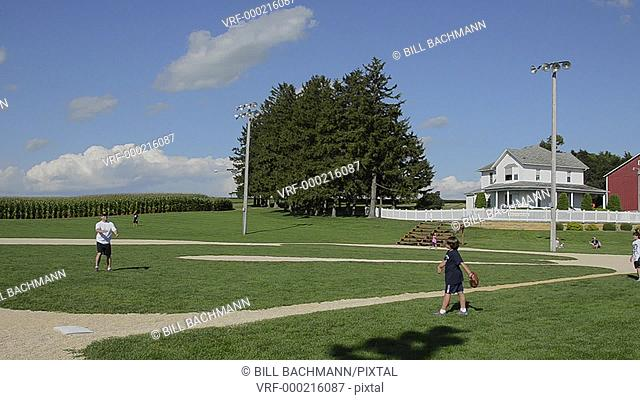 Dyersville Iowa movie set of famous movie Field of Dreams baseball park movie