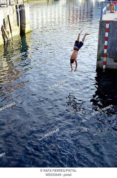 Diving, Llanes. Asturias, Spain