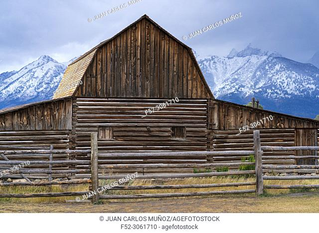 Mormon Row Historic District, Grand Teton National Park, Wyoming, Usa, America