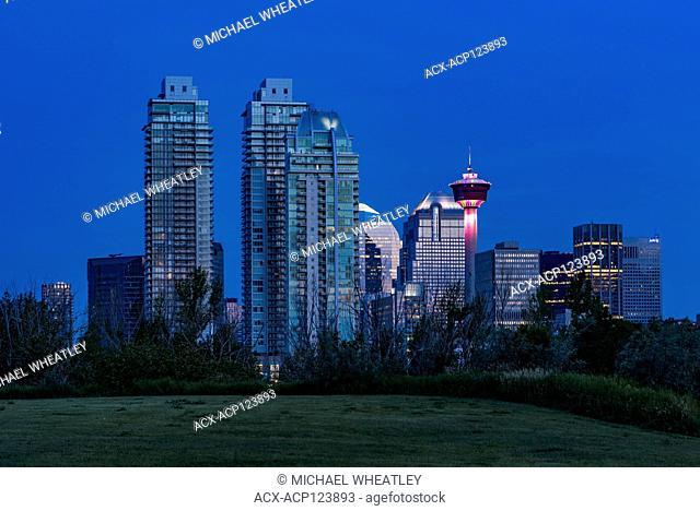 Skyline with Calgary Tower, Calgary, Alberta, Canada
