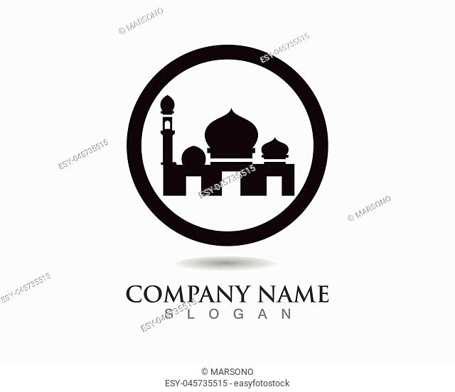 Mosque icon vector Illustration template