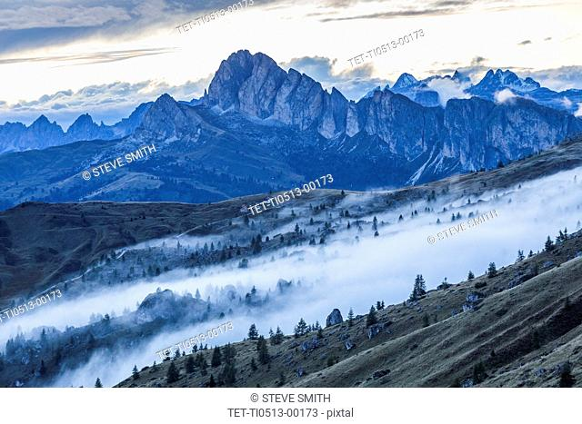 Mountains at Giau Pass in South Tyrol, Italy