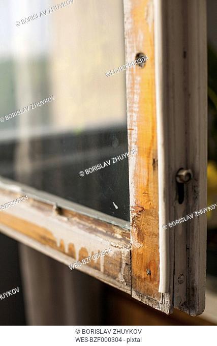 Old window frame