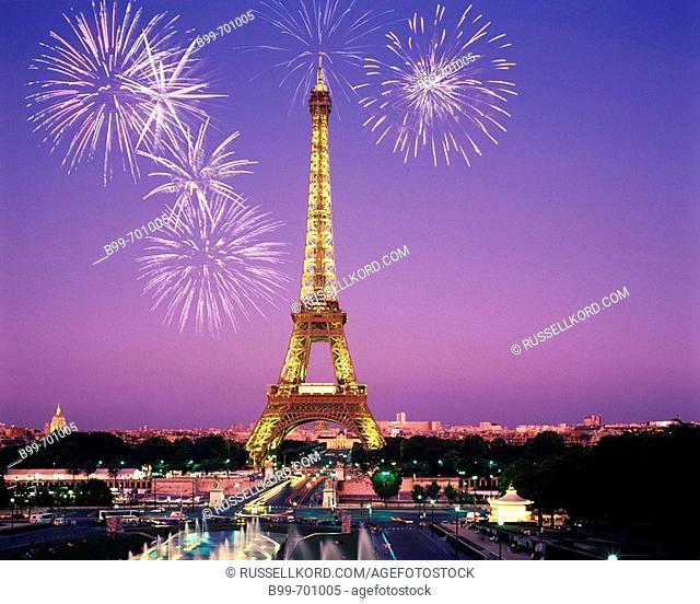 Fountains Trocadero, Eiffel Tower Paris, France