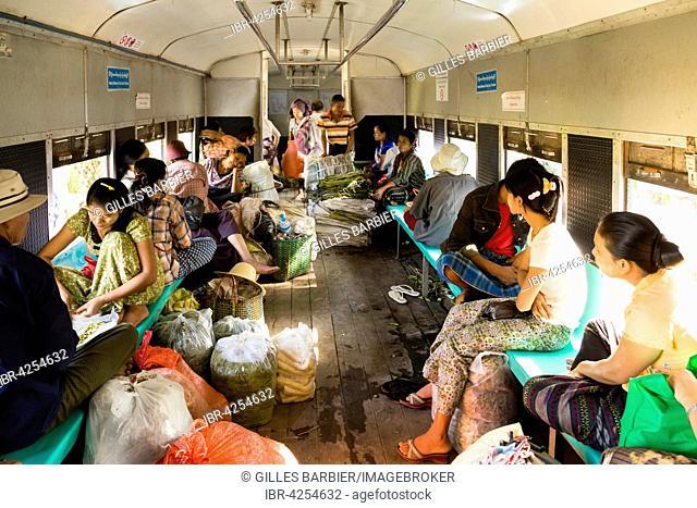 Train Ride On the Circle Line, South Okkalapa, Yangon, Myanmar