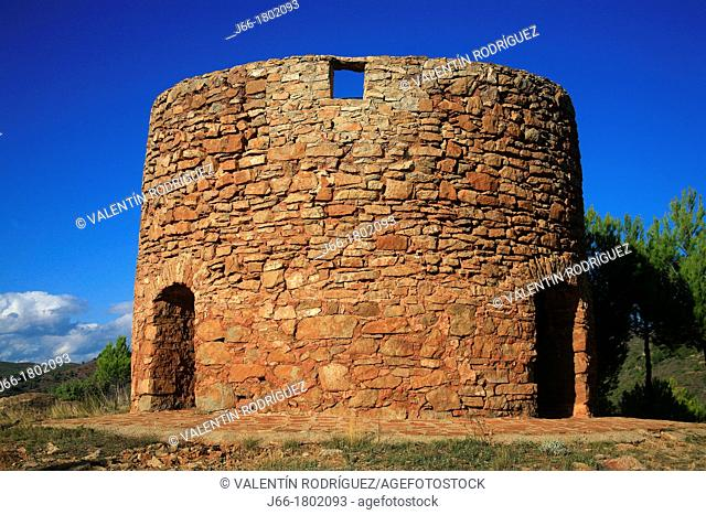 Remains of old mill in Gátova in the Natural Park Sierra Calderona  Valencia