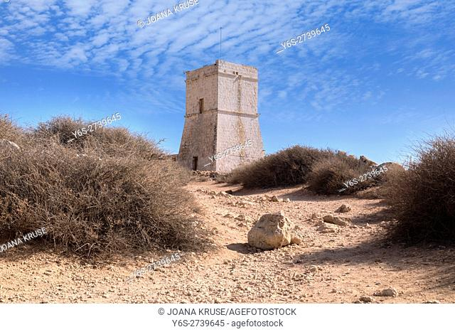 Ghajn Tuffieha Tower, Golden Bay, Malta