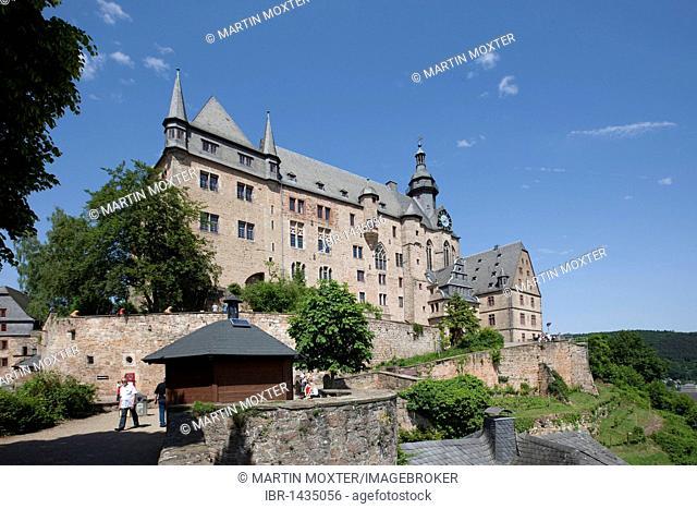 The Marburger Schloss castle, Marburg, Hessen, Germany, Europe