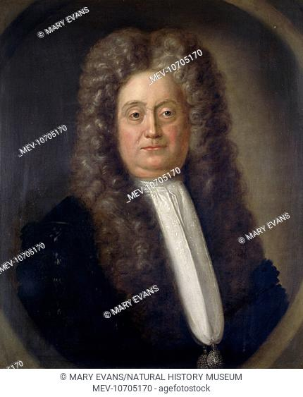 Portrait painting of Sir Hans Sloane, an eminent physician and naturalist who bequeathed his collections and library to the nation in 1753