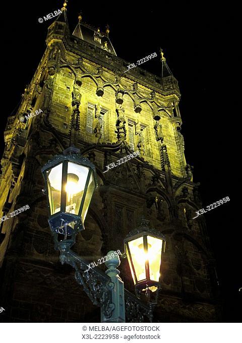 Powder Tower, Old Town Prague, Prague, Czech Republic