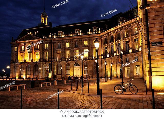 Place de la Bourse, Bordeaux, Gironde Department, Aquitaine, France