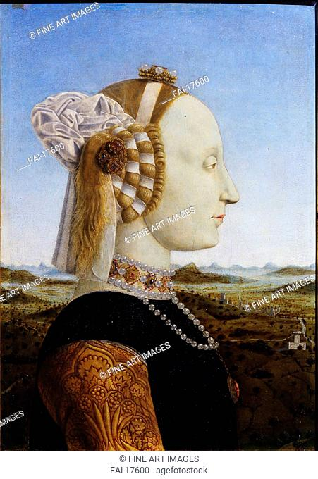 Portrait of Battista Sforza (From the Paired portraits of Federico da Montefeltro and his wife, the Duke and Duchess of Urbino)