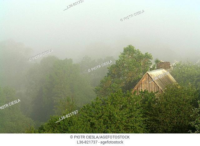 A view Podlasie. Mielnik villiage. Nadbuzanski Scenic Park. Nadbuzanski Park Krajobrazowy. Summer