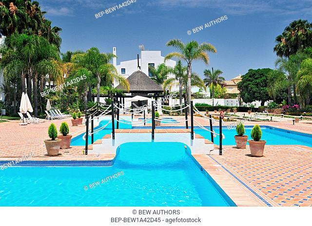 Hotel Pool Marbella Malaga Costa del Sol Andalusia Spain