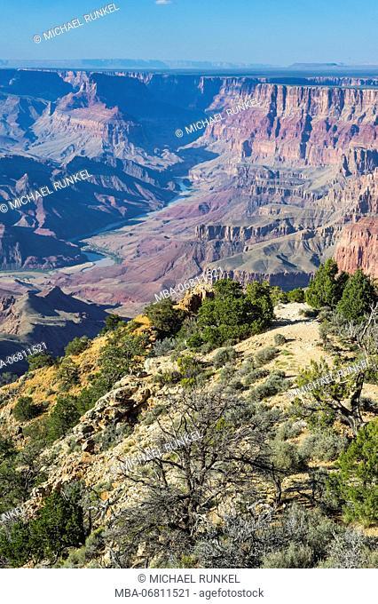 Desert view point over the Grand Canyon, Arizona, USA