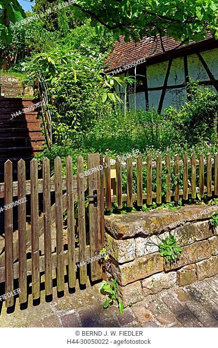 Bath houses, old, garden, Gleisweiler Germany