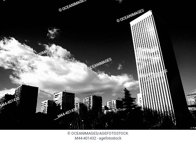 Picasso Tower, Azca district. Madrid. Spain