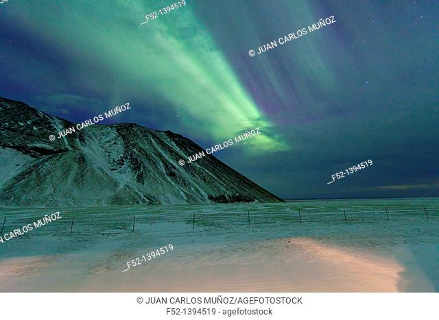 Northern Lights, Southern Iceland, Iceland, Europe
