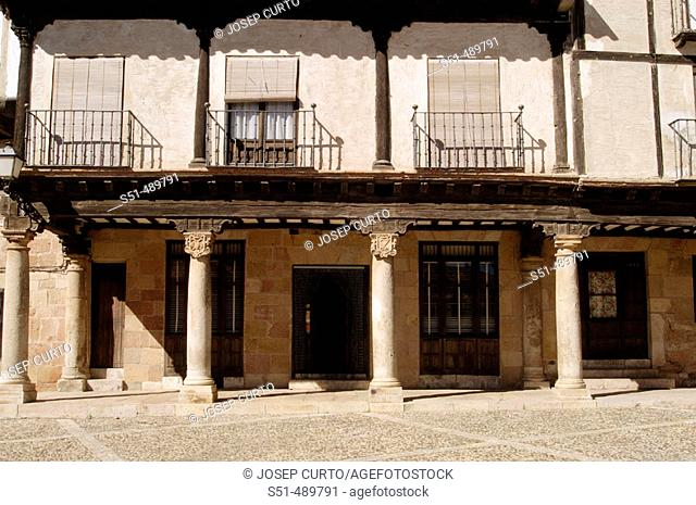 Plaza Bruno Pascual, Antigua Plaza del Mercado, Atienza, Guadalajara, Castilla-La Mancha, Spain
