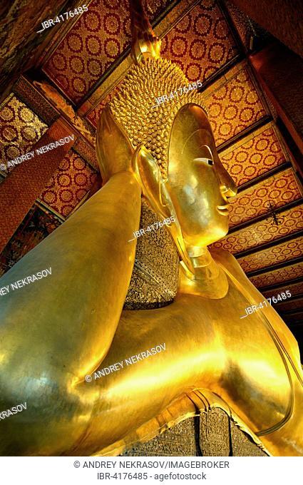 Temple of the Reclining Buddha, Wat Pho or Wat Po, Phra Nakhon district, Bangkok, Thailand