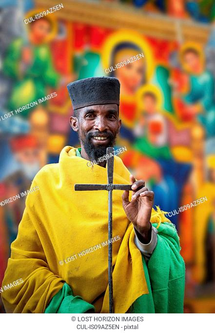 Priest in an Orthodox Monastery, Lalibela, Ethiopia