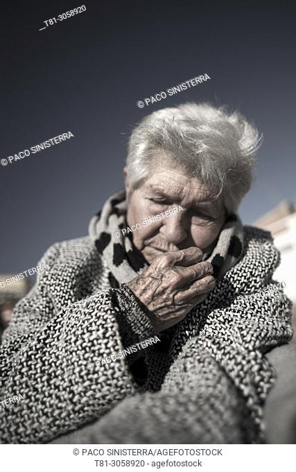 older person dozing Valencia, Spain