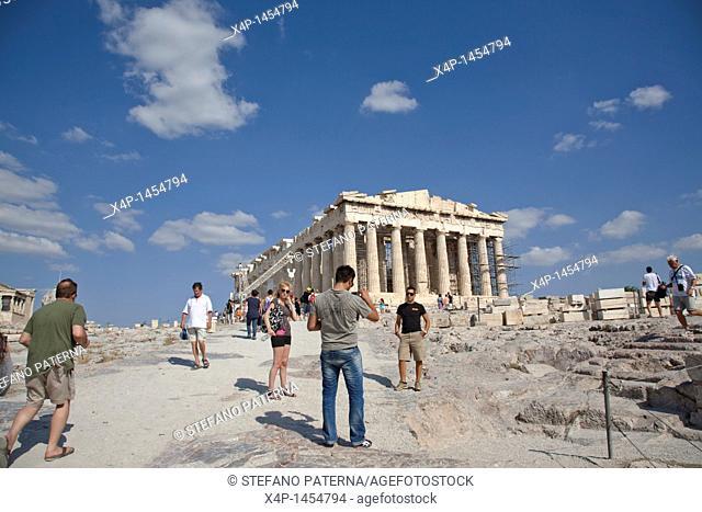 The Acropolis and the Parthenon Temple, Athens Greece