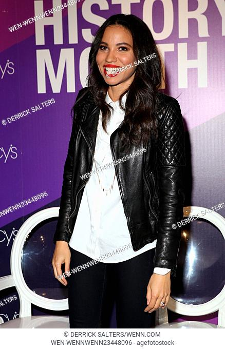 Macy's Celebrates Black History Month Featuring: JURNEE SMOLLET-BELL Where: New York, United States When: 03 Feb 2016 Credit: Derrick Salters/WENN.com